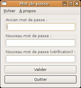 Capture d'écran du logiciel horizon-smbpasswd